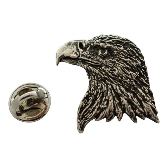 Eagle Head Pin ~ Antiqued Pewter ~ Lapel Pin ~ Sarah's Treats & Treasures