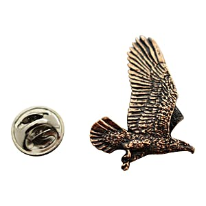 Flying Eagle Pin ~ Antiqued Copper ~ Lapel Pin ~ Antiqued Copper Lapel Pin ~ Sarah's Treats & Treasures