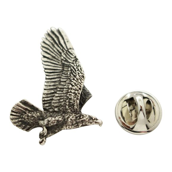 Flying Eagle Pin ~ Antiqued Pewter ~ Lapel Pin ~ Sarah's Treats & Treasures
