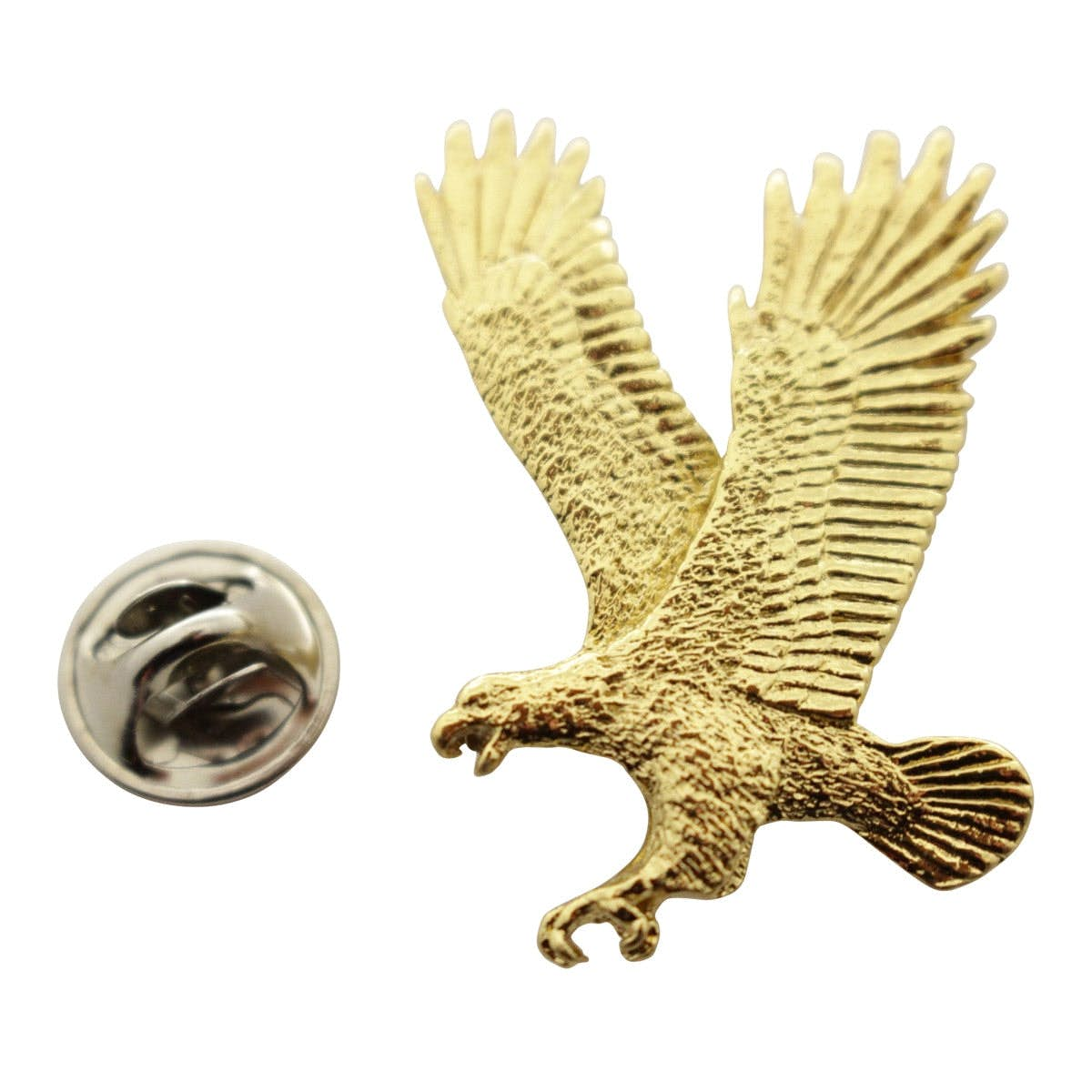 Flying Eagle Pin ~ 24K Gold ~ Lapel Pin ~ 24K Gold Lapel Pin ~ Sarah's Treats & Treasures