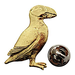 Puffin Pin ~ 24K Gold ~ Lapel Pin ~ 24K Gold Lapel Pin ~ Sarah's Treats & Treasures