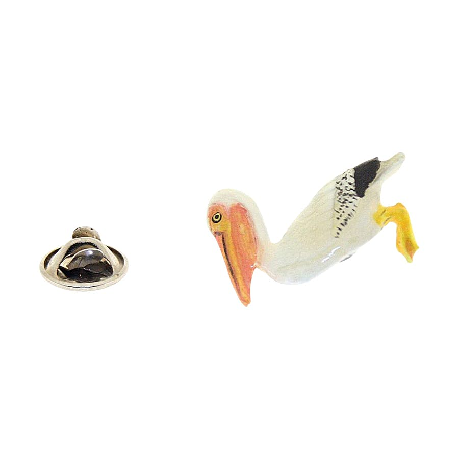 Pelican Pin ~ Hand Painted ~ Lapel Pin ~ Hand Painted Lapel Pin ~ Sarah's Treats & Treasures