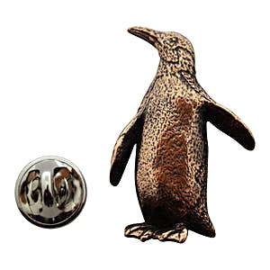Penguin Pin ~ Antiqued Copper ~ Lapel Pin ~ Sarah's Treats & Treasures