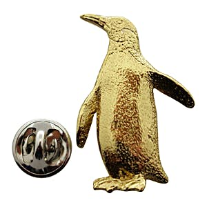 Penguin Pin ~ 24K Gold ~ Lapel Pin ~ 24K Gold Lapel Pin ~ Sarah's Treats & Treasures