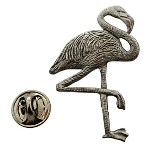 Flamingo Pin ~ Antiqued Pewter ~ Lapel Pin ~ Sarah's Treats & Treasures