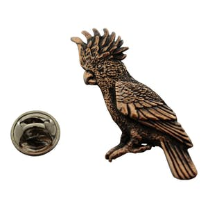 Cockatoo Pin ~ Antiqued Copper ~ Lapel Pin ~ Antiqued Copper Lapel Pin ~ Sarah's Treats & Treasures
