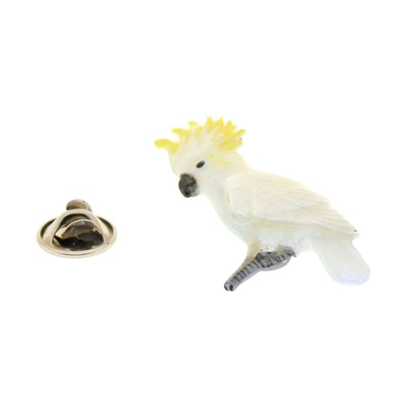 Cockatoo Yellow Pin ~ Hand Painted ~ Lapel Pin ~ Hand Painted Lapel Pin ~ Sarah's Treats & Treasures