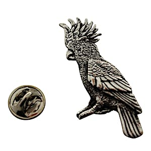 Cockatoo Pin ~ Antiqued Pewter ~ Lapel Pin ~ Antiqued Pewter Lapel Pin ~ Sarah's Treats & Treasures