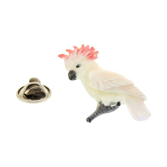 Cockatoo Pink Pin ~ Hand Painted ~ Lapel Pin ~ Hand Painted Lapel Pin ~ Sarah's Treats & Treasures