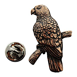 Parrot Pin ~ Antiqued Copper ~ Lapel Pin ~ Sarah's Treats & Treasures