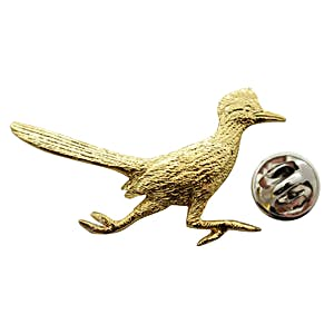 Roadrunner Pin ~ 24K Gold ~ Lapel Pin ~ 24K Gold Lapel Pin ~ Sarah's Treats & Treasures