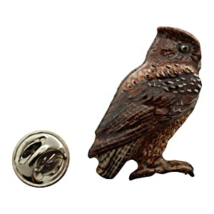 Screech Owl Pin ~ Hand Painted ~ Lapel Pin ~ Hand Painted Lapel Pin ~ Sarah's Treats & Treasures