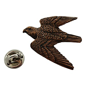 Peregrine Falcon Pin ~ Antiqued Copper ~ Lapel Pin ~ Sarah's Treats & Treasures