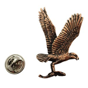 Osprey Pin ~ Antiqued Copper ~ Lapel Pin ~ Antiqued Copper Lapel Pin ~ Sarah's Treats & Treasures