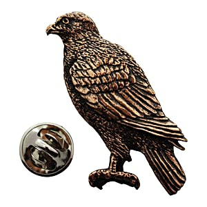 Hawk Pin ~ Antiqued Copper ~ Lapel Pin ~ Sarah's Treats & Treasures