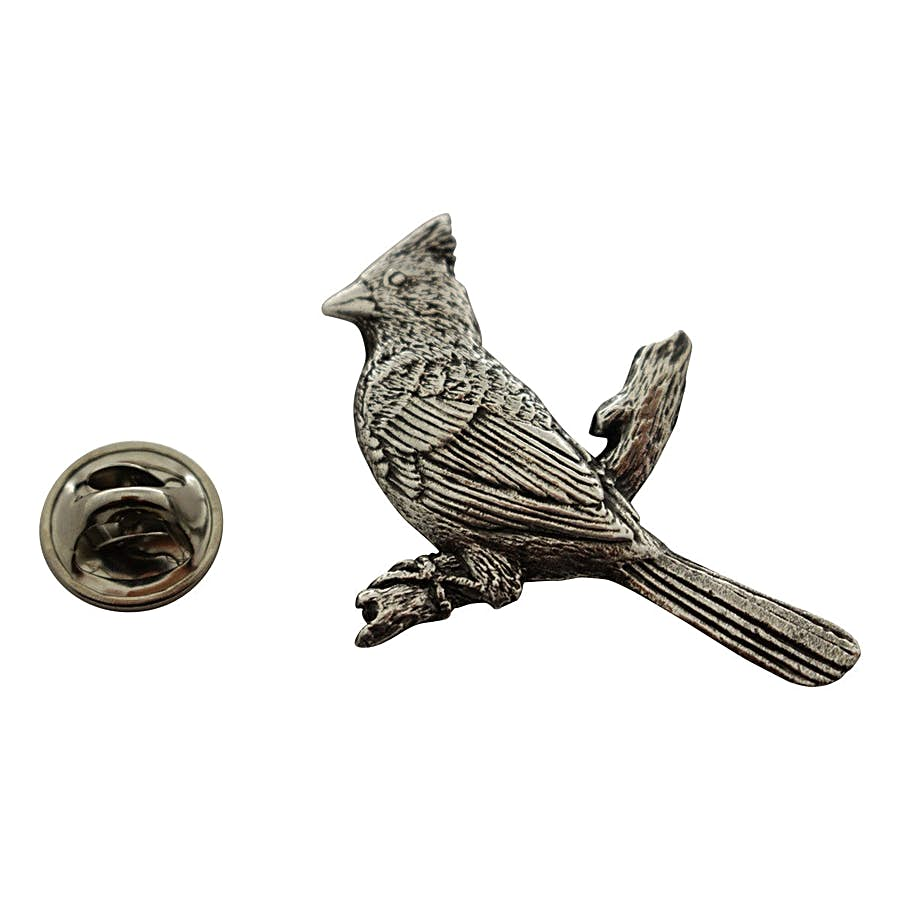 Cardinal Pin ~ Antiqued Pewter ~ Lapel Pin ~ Antiqued Pewter Lapel Pin ~ Sarah's Treats & Treasures