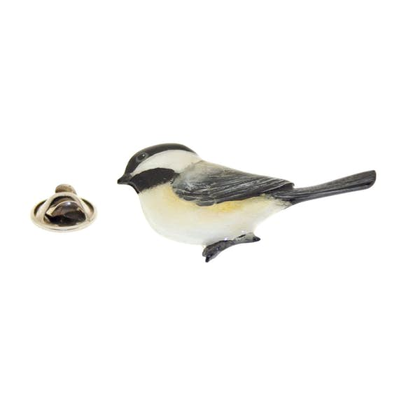 Chickadee Pin ~ Hand Painted ~ Lapel Pin ~ Hand Painted Lapel Pin ~ Sarah's Treats & Treasures