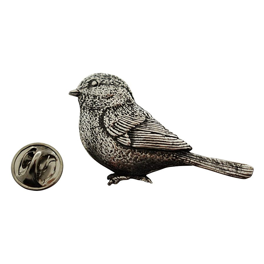 Chickadee Pin ~ Antiqued Pewter ~ Lapel Pin ~ Antiqued Pewter Lapel Pin ~ Sarah's Treats & Treasures