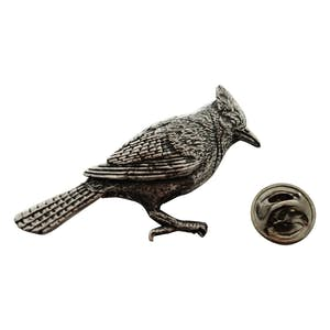 Blue Jay Pin ~ Antiqued Pewter ~ Lapel Pin ~ Sarah's Treats & Treasures