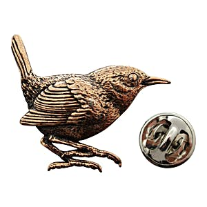 Wren Pin ~ Antiqued Copper ~ Lapel Pin ~ Antiqued Copper Lapel Pin ~ Sarah's Treats & Treasures