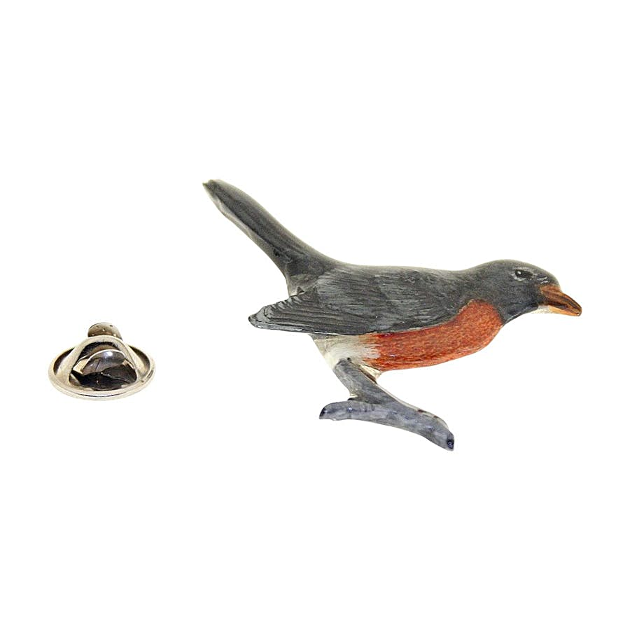 Robin Pin ~ Hand Painted ~ Lapel Pin ~ Hand Painted Lapel Pin ~ Sarah's Treats & Treasures