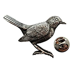 Robin Pin ~ Antiqued Pewter ~ Lapel Pin ~ Sarah's Treats & Treasures