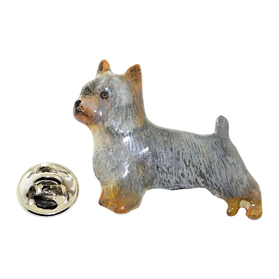 Silky Terrier Pin ~ Hand Painted ~ Lapel Pin ~ Hand Painted Lapel Pin ~ Sarah's Treats & Treasures