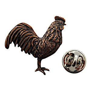 Rooster Pin ~ Antiqued Copper ~ Lapel Pin ~ Antiqued Copper Lapel Pin ~ Sarah's Treats & Treasures