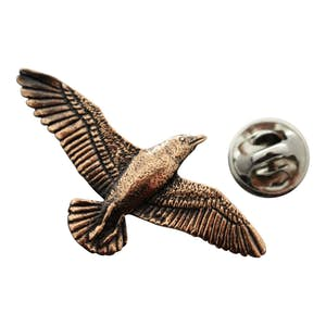 Seagull Pin ~ Antiqued Copper ~ Lapel Pin ~ Antiqued Copper Lapel Pin ~ Sarah's Treats & Treasures