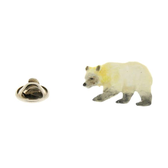 Polar Bear Pin ~ Hand Painted ~ Lapel Pin ~ Sarah's Treats & Treasures