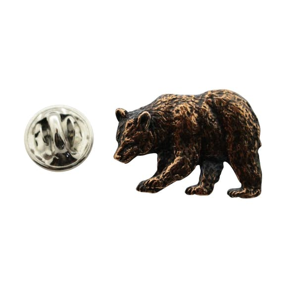 Black Bear Pin ~ Antiqued Copper ~ Lapel Pin ~ Sarah's Treats & Treasures