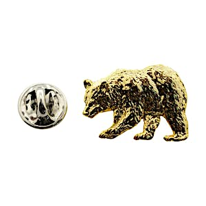 Black Bear Pin ~ 24K Gold ~ Lapel Pin ~ Sarah's Treats & Treasures