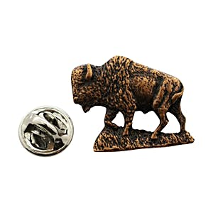 Buffalo Pin ~ Antiqued Copper ~ Lapel Pin ~ Sarah's Treats & Treasures