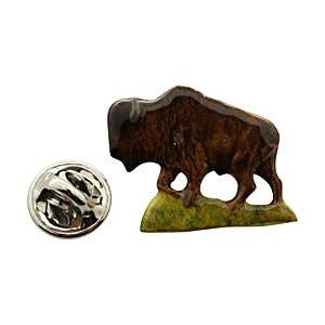 Buffalo Pin ~ Hand Painted ~ Lapel Pin ~ Hand Painted Lapel Pin ~ Sarah's Treats & Treasures
