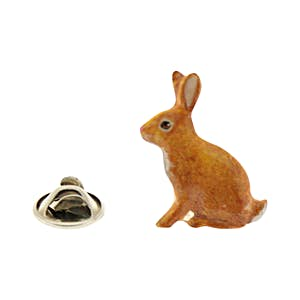 Rabbit Pin ~ Hand Painted ~ Lapel Pin ~ Hand Painted Lapel Pin ~ Sarah's Treats & Treasures