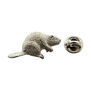 Beaver Pin ~ Antiqued Pewter ~ Lapel Pin ~ Sarah's Treats & Treasures