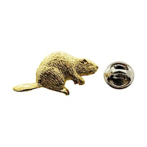 Beaver Pin ~ 24K Gold ~ Lapel Pin ~ Sarah's Treats & Treasures