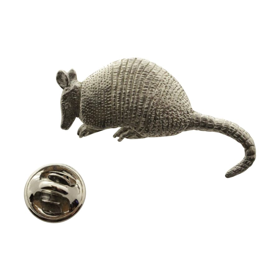 Armadillo Pin ~ Antiqued Pewter ~ Lapel Pin ~ Sarah's Treats & Treasures