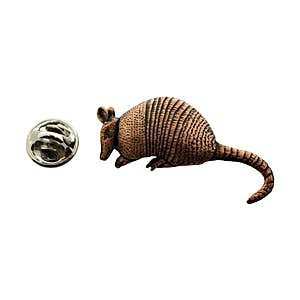 Armadillo Pin ~ Antiqued Copper ~ Lapel Pin ~ Sarah's Treats & Treasures