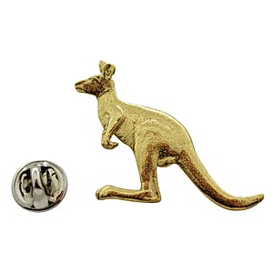 Kangaroo Pin ~ 24K Gold ~ Lapel Pin ~ 24K Gold Lapel Pin ~ Sarah's Treats & Treasures