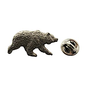 Grizzly Bear Pin ~ Antiqued Pewter ~ Lapel Pin ~ Sarah's Treats & Treasures