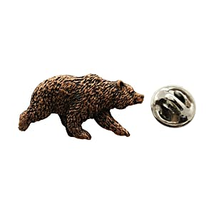 Grizzly Bear Pin ~ Antiqued Copper ~ Lapel Pin ~ Sarah's Treats & Treasures