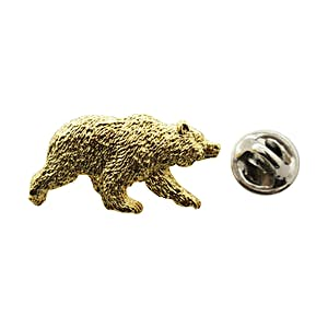 Grizzly Bear Pin ~ 24K Gold ~ Lapel Pin ~ Sarah's Treats & Treasures