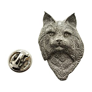 Bobcat Head Pin ~ Antiqued Pewter ~ Lapel Pin ~ Sarah's Treats & Treasures