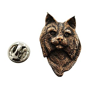 Bobcat Head Pin ~ Antiqued Copper ~ Lapel Pin ~ Sarah's Treats & Treasures