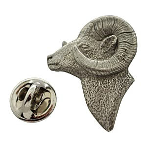 Ram Head Pin ~ Antiqued Pewter ~ Lapel Pin ~ Sarah's Treats & Treasures