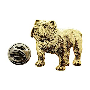 Bulldog Pin ~ 24K Gold ~ Lapel Pin ~ Sarah's Treats & Treasures