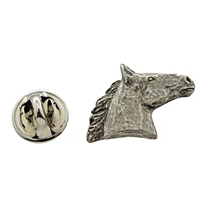 Horse Head Pin ~ Antiqued Pewter ~ Lapel Pin ~ Sarah's Treats & Treasures