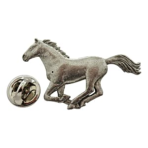 Horse Galloping Pin ~ Antiqued Pewter ~ Lapel Pin ~ Sarah's Treats & Treasures