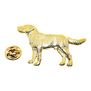 Labrador or Lab Pin ~ 24K Gold ~ Lapel Pin ~ 24K Gold Lapel Pin ~ Sarah's Treats & Treasures